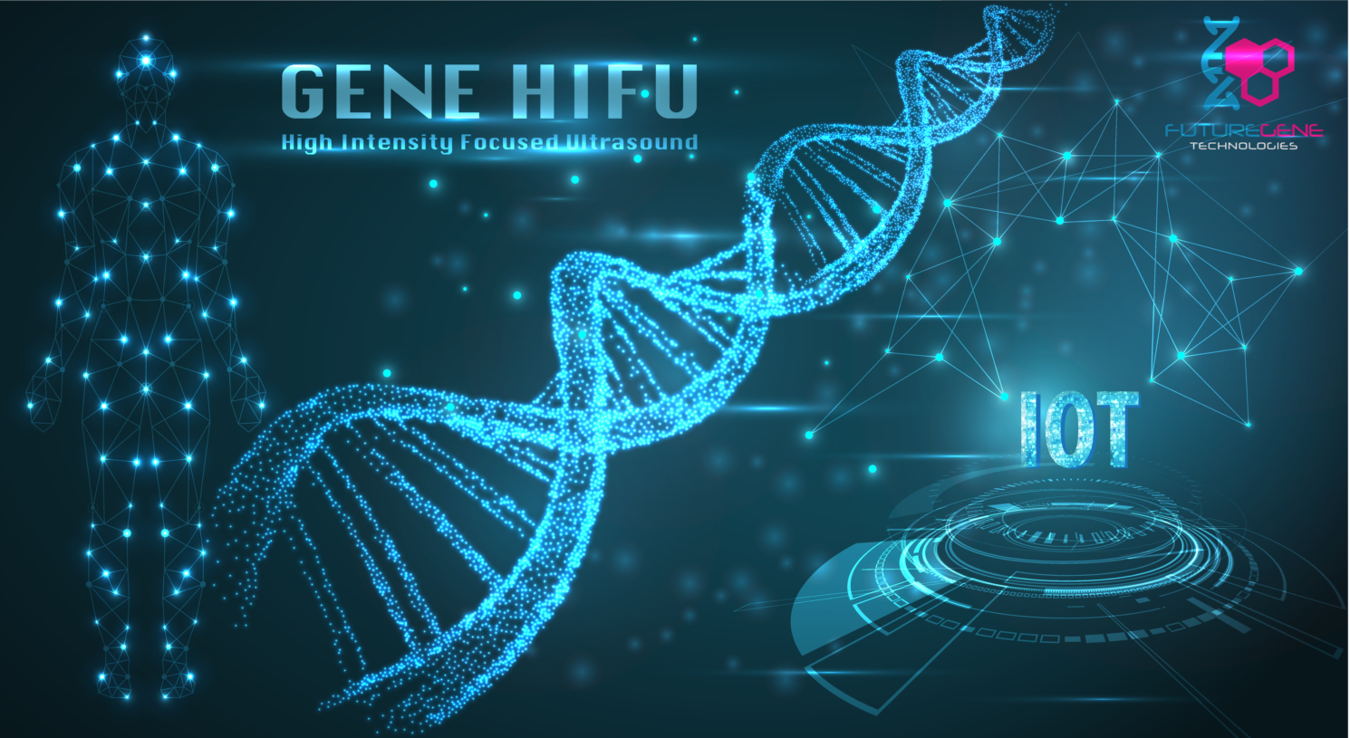 遺伝子HIFU IoTとバイオテクノロジーでついに人類は神の領域に!?次世代HIFUでアンチエイジングの新たな歴史が始まる。